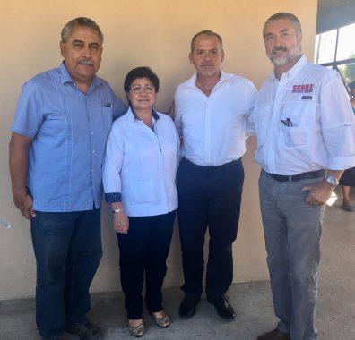 Foto 1- Alcaldesa y Subsecretario se reunen con representantes de la empresa score